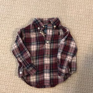 Plaid Ralph Lauren flannel button down 9 month